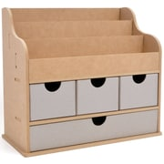 "Kaisercraft Beyond The Page MDF 11 1/4"" x 12 1/2"" x 7"" Large Desk Organiser, Beige"