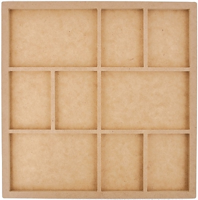 Kaisercraft Beyond The Page MDF 9 Frame Photo Display, Beige 299737