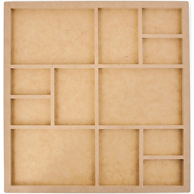 Kaisercraft Beyond The Page MDF 12 Frame Photo Display, Beige