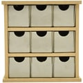 Kaisercraft Beyond The Page MDF 5 3/4in. x 6in. x 2 1/4in. Mini Drawers, Beige