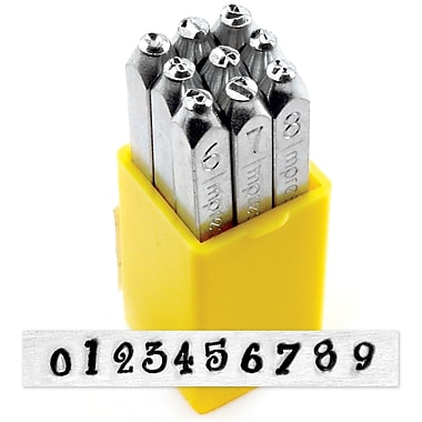 ImpressArt 4 mm Number Stamp Set, Jeanie