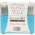 ImpressArt 4 mm Lowercase Stamp Set, Royal Crest