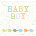 Trends International Postbound Scrapbook Album, 12in. x 12in., Water Baby Boy