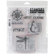 "Stampers Anonymous Tim Holtz 7"" x 8 1/2"" Cling Stamp Set, Classics #1"