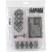 "Stampers Anonymous Tim Holtz 7"" x 8 1/2"" Cling Stamp Set, Classics #3"