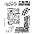 Stampers Anonymous Tim Holtz 7in. x 8 1/2in. Cling Stamp Set, Classics #7