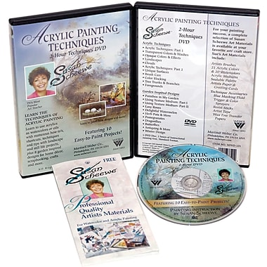 Martin/ F. Weber® Susan Scheewe 2-Hour Paint Training DVD, Acrylic Techniques