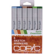 Copic® Marker 6 Piece Earth Essentials Sketch Markers Set