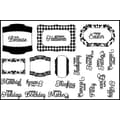 Cindy Echtinaw Designs™ 4in. x 6in. Spellbinders Matching Clear Stamp, Label Accents