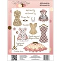 Cindy Echtinaw Designs™ 6 1/2in. x 8 1/2in. Spellbinders Matching Stamp, All Dolled Up & Dressed Up