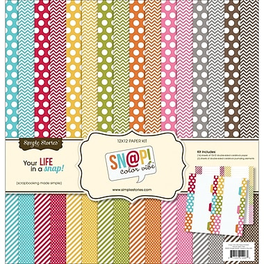 Simple Stories Snap! Color Vibe Collection Kit, 12in. x 12in.