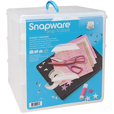 Snapware Snap 'n Stack Craft Organizer Large Square