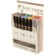 Crafter's Companion Twin Tip Point Spectrum Noir Dark Alcohol Marker, Assorted, 24/Pack