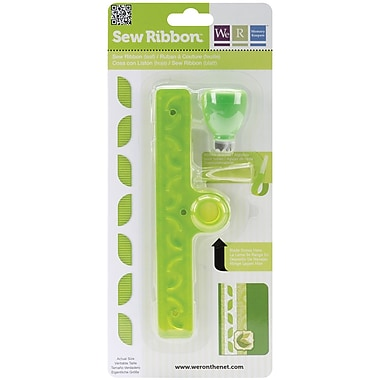 We R Memory Keepers Sew Ribbon Tool & Stencil, Leaf