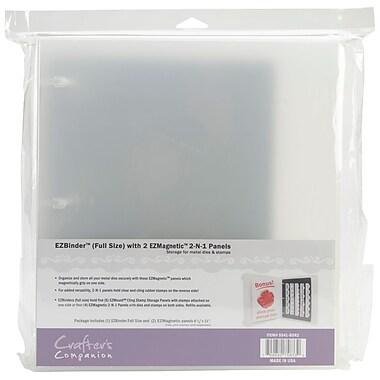 Crafter's Companion EZMagnetic 2 N 1 Starter Set Storage System, Full Size, Black