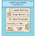 Inkadinkado® 5 3/4in. x 6in. Mounted Stamp Q, Happy Occasions
