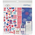 Doodlebug Stars & Stripes Essentials Page Kit, 12in. x 12in.