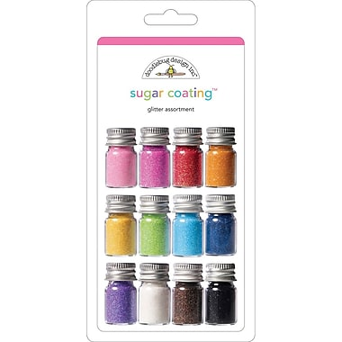 Doodlebug Sugar Coating Assortment Glitter Bottles, 5 g