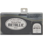 "Tsukineko® StazOn 5.4"" x 3.4"" Metallic Ink Kit, Silver"