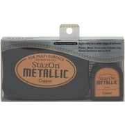 "Tsukineko® StazOn 5.4"" x 3.4"" Metallic Ink Kit, Copper"