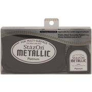 "Tsukineko® StazOn 5.4"" x 3.4"" Metallic Ink Kit, Platimun"