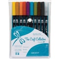 Tombow® 10 Piece Groovy Dual Brush Marker Set