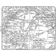 """Stampers Anonymous Tim Holtz 5"""" x 4"""" Red Stamp, World Map"""