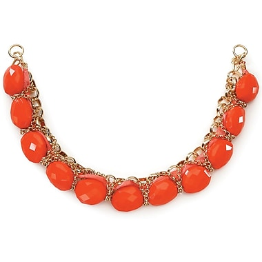 Darice® Necklace With Bottom Coral and Gold Chain/Bead and Ribbon
