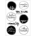 Technique Tuesday® 4in. x 6in. Clear Stamp, Life Circles