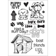 "Technique Tuesday® 4"" x 6"" Clear Stamp, Who Let the Dogs Out"
