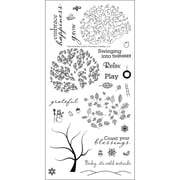 "Technique Tuesday® 3"" x 8"" Clear Stamp, Tree-Mendous"