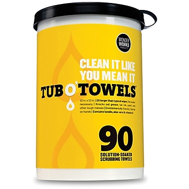 Federal Process TW90 Tub O Towel Wipes, 12