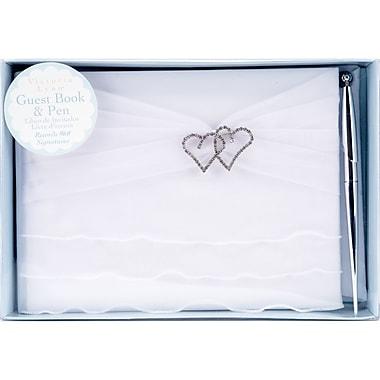 Darice® Victoria Lynn™ Wedding Guest Book and Pen, White