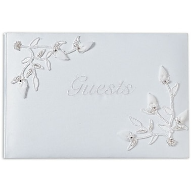 Darice® Victoria Lynn™ Baby Rose Collection Wedding Guest Book, White