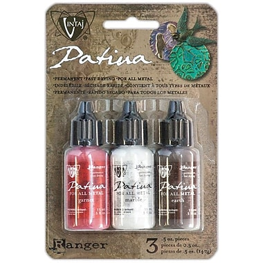 Ranger Vintaj Painted Barn Patina Kit, Garnet/Marble/Earth
