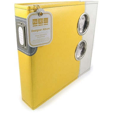 We R Memory Keepers Designer 3-Ring Album With Window, 12in. x 12in., Yellow