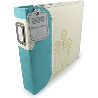 We R Memory Keepers Designer 3-Ring Album With Window, 12in. x 12in., Bluish Green