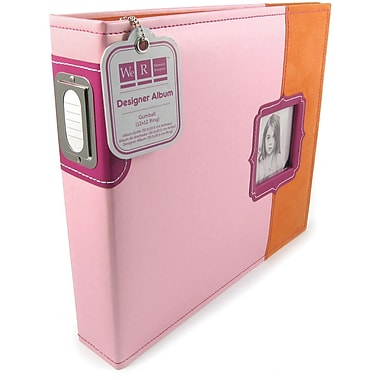We R Memory Keepers Designer 3-Ring Album With Window, 12in. x 12in., Pink