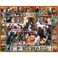 White Mountain Puzzle 24in. x 30in. Jigsaw Puzzle, in. The World Of Dogs in.