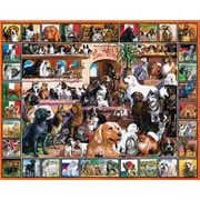 White Mountain Puzzle 24 x 30 Jigsaw Puzzle,  The World Of Dogs