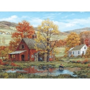White Mountain Puzzle 24 x 30 Jigsaw Puzzle,  Friends In Autumn