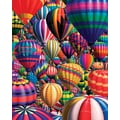 White Mountain Puzzle 24in. x 30in. Jigsaw Puzzle, in. Hot Air Balloons in.