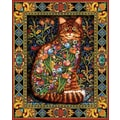 White Mountain Puzzle 24in. x 30in. Jigsaw Puzzle, in. Tapestry Cat in.