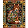 "White Mountain Puzzle 24"" x 30"" Jigsaw Puzzle, "" Tapestry Cat """