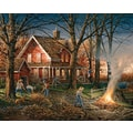 White Mountain Puzzle 24in. x 30in. Terry Redlin Jigsaw Puzzle, in. Autumn Evening in.