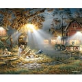 White Mountain Puzzle 24in. x 30in. Terry Redlin Jigsaw Puzzle, in. Our Friends in.