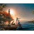 White Mountain Puzzle 24in. x 30in. Terry Redlin Jigsaw Puzzle, in. From Sea To Shining Sea in.