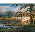 White Mountain Puzzle 24in. x 30in. Terry Redlin Jigsaw Puzzle, in. Summertime in.