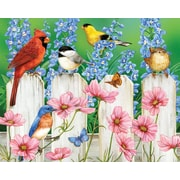 White Mountain Puzzle 24 x 30 Jigsaw Puzzle,  Picket Fence Pals