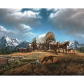 White Mountain Puzzle 24in. x 30in. Terry Redlin Jigsaw Puzzle, in. O Beautiful For Spacious Skies in.